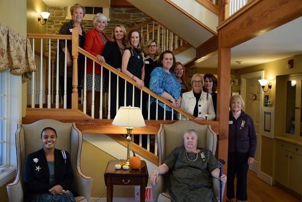 Philadelphia Chapter NSDAR-members on stairwell