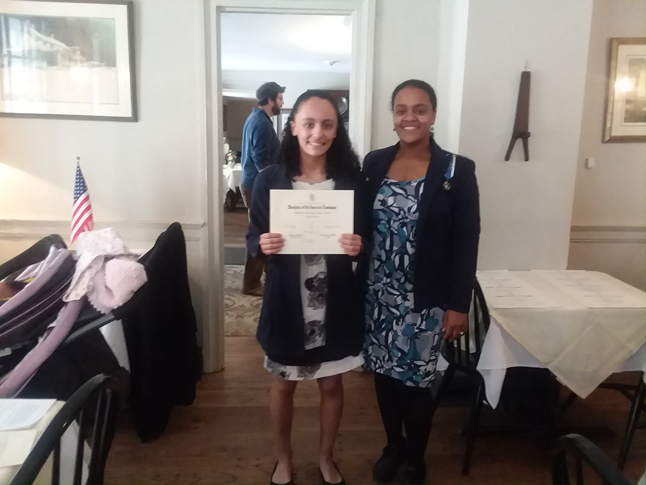 awarded student standing with Regent