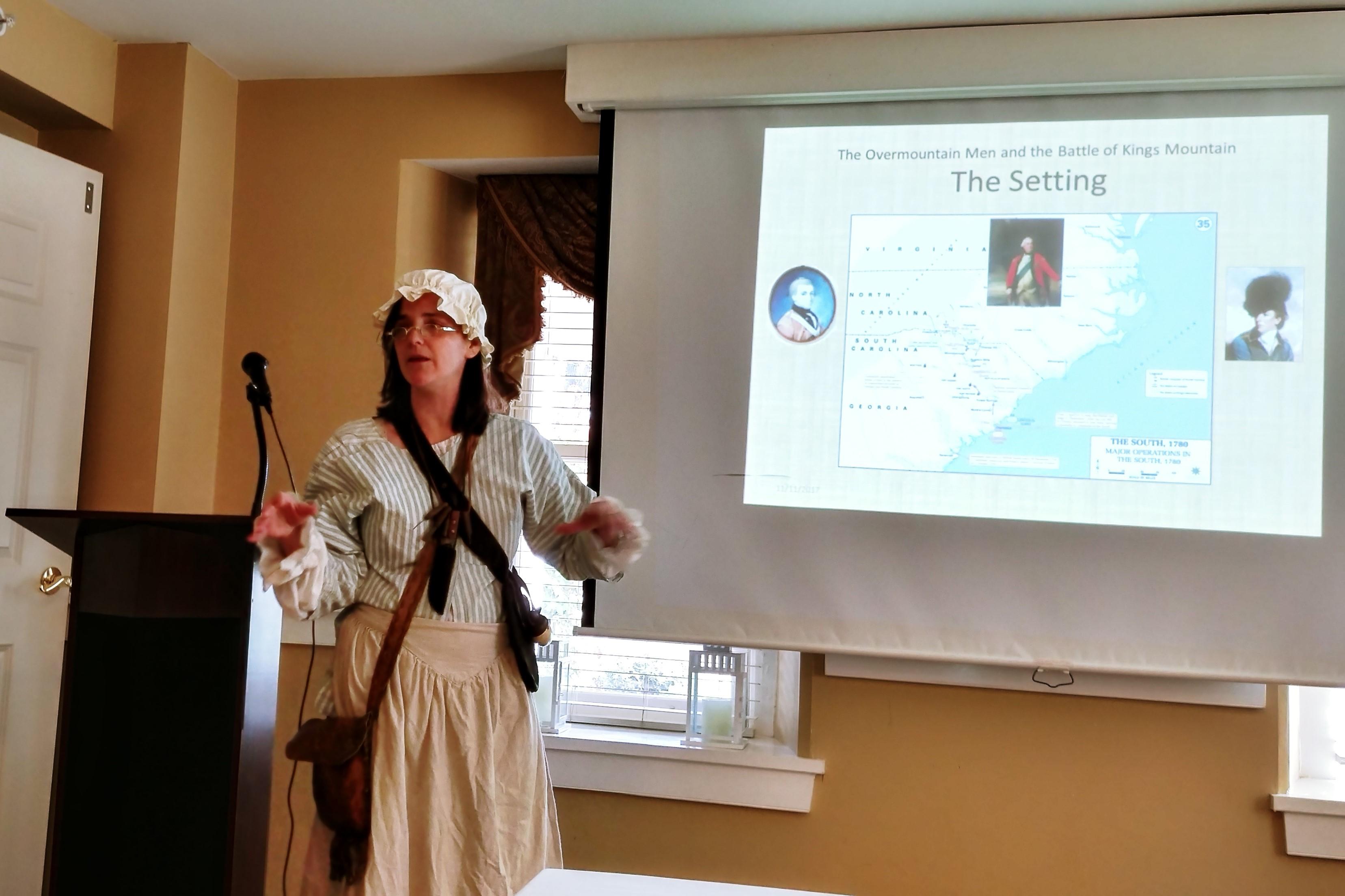 speaker dressed in authentic costume