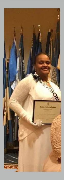 Chapter Regent holding award