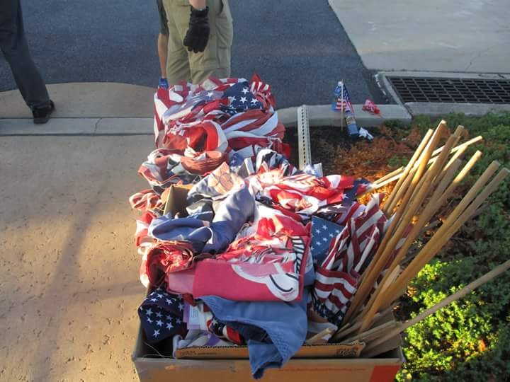 piles of old flags